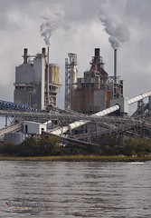 fernblow (bMi2fotografx) Tags: blow pipes factory water harbor fernandinabeach florida smoke transport