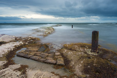Past Pier (Tom_Drysdale) Tags: sunrise storm east pittenweem crail moody 2016 fujifilm light morning fife scotland xt10 north dark fuji windy september neuk harbour sea