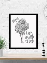 I Am A Child Of God (PrintArtPosters) Tags: prints bible scripture christian home decor kids god art nursery childrens wallart wall posters jpg pdf digitalart etsy printartposters