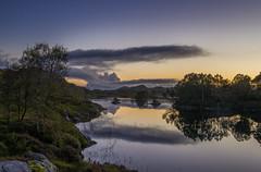 Evening light - D8E_4383 (Viggo Johansen) Tags: evening light lake trees rocks sunset sky clouds holmacatn bjerkreimkommune rogaland norway
