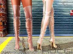Sibiti Boots at Uber September 2016 (Eboni Khan) Tags: hucci houseofhucci sl secondlife boots boot uber 2016 september slink maitreya belleza hourglass lara freya isis venus clear pvc