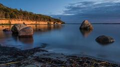 On The Rocks (Panasonikon) Tags: wasser meer lzb blauestunde bluehour steine stones kste ufer lumixdmcg70 mzuiko918 landschaft landscape ostseekste inselpoel