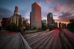 DTLA-0347-2 (Michael Zampelli) Tags: losangeles california unitedstates us downtown color timeexposure sunset dark night dusk lighttrails