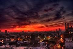 Niebla y ocaso II - Fog and sunset II (celta4) Tags: city argentina night clouds buildings atardecer edificios buenosaires cloudy ciudad nubes ocaso niebla hdr suset