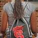 Student checks in to get room assignment at Tucker residence hall during Friday's move-in.