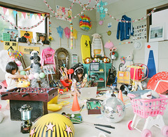 Kids' hideout (Toyokazu) Tags: life camera family portrait girl beautiful kids toy child photogenic pentax67