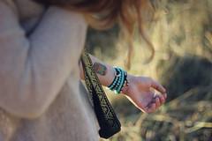 she may contain the urge to run away (teakaykaytea) Tags: summer field fun happy dof hand arm tattoos temporary