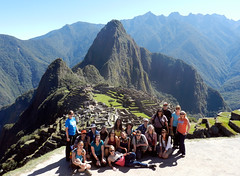 Our group (LeelooDallas) Tags: south america peru machu picchu landscape mountain rock inca ruin dragoman group steve dana iwachow fuji hs20 exr 2012 overland