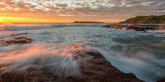 Sunrise at Port Kembla Beach (Taha Elraaid) Tags: beach port sunrise canon amazing australia  taha kembla   elraaid