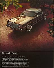 1982 Cadillac Eldorado Biarritz (smokuspollutus) Tags: sedan 1982 seville cadillac eldorado deville brochure coupe biarritz fleetwood elegante brougham delegance fleetwoodbrougham