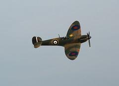 Spitfire wave (crusader752) Tags: airshow eastbourne spitfire seafront airbourne supermarine mk1 p9374j