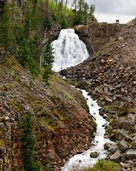 Rustic Falls (bhophotos) Tags: travel usa nature river landscape geotagged waterfall nikon falls yellowstonenationalpark yellowstone wyoming ynp wy rusticfalls d700 2470mmf28g