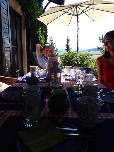 Frühstück auf dem Lande