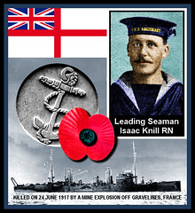 Isaac Knill (1878-1917) (Knill Family History) Tags: knill family history ilfracombe devon england genealogy herefordshire wales isaacknill leadingseaman hmsredcar plymouthmemorial royalnavy poppyday remembrancesunday greatwar firstworldwar worldwarone worldwari wwi ww1 ancestry 19182018 100 100th hundred hundreth anniversary centenary commemoration