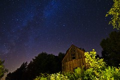Same place, different time. (sherbypictures) Tags: old abandoned night barn canon way stars countryside vincent tokina astronomy milky derelict fortin t3i 600d 1116f28