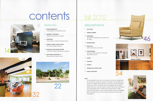 Atomic Ranch Issue 35: Fall 2012: Contents