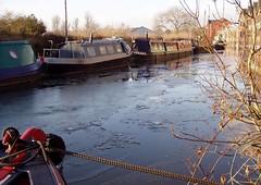 From the Wharf, Stone, 3 Jan 2009 (DizDiz) Tags: uk england stone staffordshire narrowboats canaltown olympusc720uz january2009