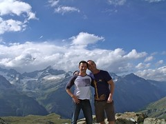 Andrew & Scott on top of Europe (Scott2011) Tags: switzerland hiking muscle glaciers zermatt andrewyoung scottcunnington