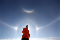 Using a Science Tech Sunblocker (Ed.Stockard) Tags: ice glacier arctic greenland summit arcs halos circumzenithalarc optics sundogs summitstation icesheet