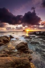 Golden Glow [Explored] (Martin Mattocks (mjm383)) Tags: longexposure light sunset seascape reflection texture water clouds rocks cornwall cloudy sunburst stmichaelsmount canoneos5dmarkii cornwalllandscapes mjm383 martinmattocksphotography