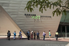 Denver Art Museum Entrance (kimindergand) Tags: building museum architecture colorado denverartmuseum entrance denver artmuseum mygearandme