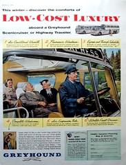 Greyhound Ad / Anuncio 1956 (ROGALI) Tags: old greyhound bus vintage ad anuncio omnibus guagua busad scenicruiser panoramicos