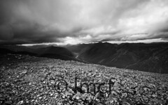 Down The Glen (Black and White) (Liam McFadden) Tags: glencoe munros glenetive hillwalking bideannambian stobdubh scolland criese