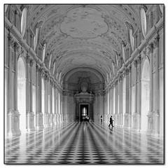 Reggia di Venara Reale (Torino) (carlobaldino) Tags: ruby10 flickraward reggia venaria galleria diana bn bw prospettiva perspective piemonte torino canon 7d