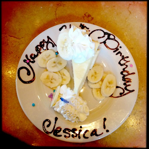 Happy birthday to me Thanks for my surprise at The Cheesecake