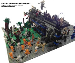 Droid outpost on Naboo (CrazyStarWarsGuy MOC's) Tags: wall star lego contest jar wars clone base naboo droid binks outpost