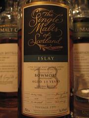 Bowmore 13yo 1995 56.4% (eitaneko photos) Tags: tokyo march bottle whisky 1995 2009 cl bowmore singlemalt 564 13yo