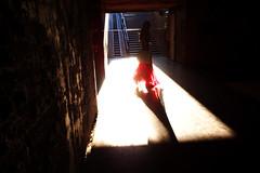 (Che-burashka) Tags: red girl candid tunnel skirt odessa ukraine lightness omd em5 underpath urbanlyric panasonic14mmf25