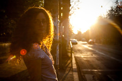Golden (Brînzei) Tags: street girls sunset sky people orange sun glasses bokeh victoria flare vignette nightwatch goldenhour ★ bucurești canoneos400d sigma24mmf28superwideiimulticoated