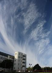 Cirrus clouds over Bradford (Albert Freeman) Tags: blue sky clouds skyscape bradford 2012 cirrus