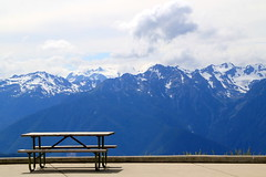 Hurricane Ridge (manywinters) Tags: olympicnationalpark hurricaneridge picnictable visitorcenter olympicmountains mygearandme mygearandmepremium mygearandmebronze mygearandmesilver