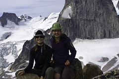 The Bugaboos - Eastpost Spire Summit Shot (Tideline to Alpine Photo, Idiosyncrasy Exemplified) Tags: camping sky snow mountains expedition clouds hiking spires glacier adventure climbing alpine mountaineering wilderness scrambling alpinism bugaboos thebugs marmolata alpineclimbing snowpatch snowpatchspire morraines bugabooglacier bugabooprovincialpark summitshot applebeecamp applebeedome eastpostspire