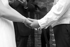 Vows (Fire At Will [Photography]) Tags: wedding bw white black love virginia hands ceremony richmond va poe vows rva clarkson poemuseum