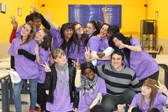 En la imagen se puede ver a un grupo de alumnos/as