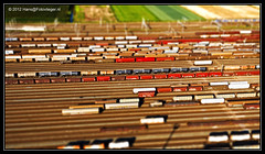 Cute Little Trains... (hanselpedia) Tags: kite netherlands small trains aerial rails trein luchtfoto spoor treinen kijfhoek zwijdrecht