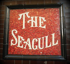 Spice Mosaic (dhcomet) Tags: red sign pub estate mosaic seagull hampshire agent spiceisland publichouse hants portsmaouth