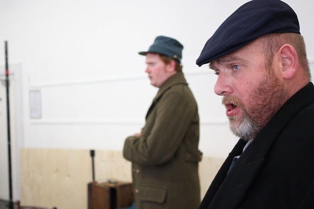 Nicholas Merryweather and Richard Mosley-Evans rehearsing The Lighthouse © Rebecca Hanbury 2012
