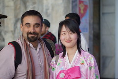 With a North Korean Guide (Joseph A Ferris III) Tags: girl smile dress hanbok guide northkorea pyongyang dprk juche chosnot kimilsungcelerbration