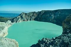 Kawah Ijen (Jeremy.Fox) Tags: world mountain lake mountains beautiful indonesia java hiking acid hike east crater record sulfur acidic largest ijen