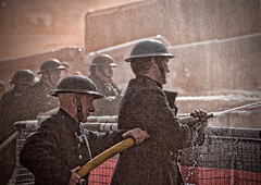 Chatham Fire Reinactors (David Purkiss LRPS CPAGB) Tags: fire salute chatham service reenactors 40s dockyard