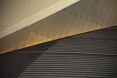 divergence (james_drury) Tags: roof sunlight abstract lines museum architecture modern canon observation manchester gold design war glow view steel daniel air north angles aerialview deck imperial libeskind salford shard iwmn explored canonef24105mmf4lisusm