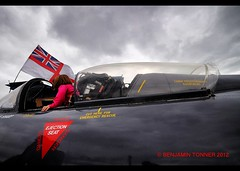 The only way is up..... (frattonparker) Tags: sky clouds grey jet cockpit windy isle wight ensign rn hawkerhunter scurrying ejectorseat martinbaker photomatixpro tamron1024mm nikond5000 btonner frattonparker