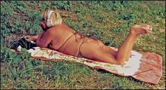 pin up (totordenamur) Tags: woman sexy girl up women pin lolita mature tanning pinup sunbathing pinups bronzette