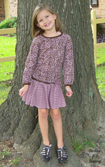 Ottobre outfit (beach_mom) Tags: pink brown 30 top 110 knit skirt 16 0412