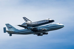 One Last Endeavor (Bryan Nabong) Tags: ferry plane sca nasa vehicle paloalto spaceship spaceshuttle spacecraft baylands themes flyby orbiter ov endeavour ov105 nasa905 112for2012 spottheshuttle sfendeavour2012