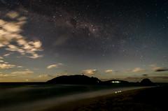 Beach & Stars (Marco.Alagna) Tags: ocean beach night clouds stars island waves milkyway